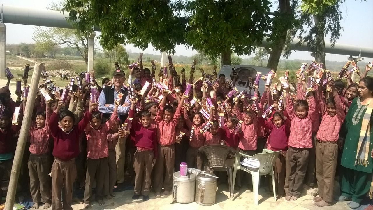 Food Distribution Drive in India. Fighting Hunger