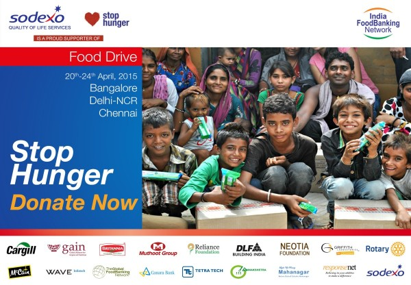 Sodexo IFBN Food Drive April 2015